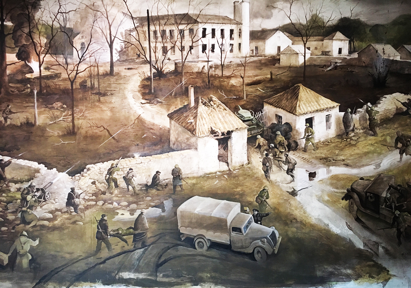 El Palacio de Ibarra, Marzo, 1937. La batalla de Guadalajara en el Museo de Brihuega